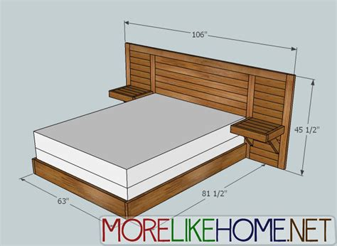 2x4 Bed Frame Plans White 2x4 Simple Modern Bed Diy Projects