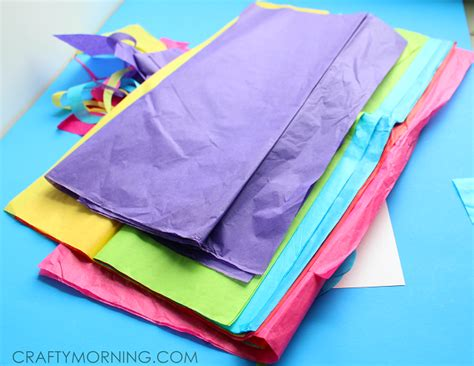 Tissue Paper Crafts - tissue paper dragonfly craft for crafty morning