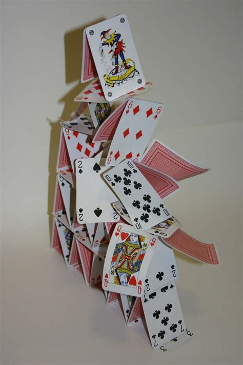 eames house of cards template 98 best card castles and cards images on