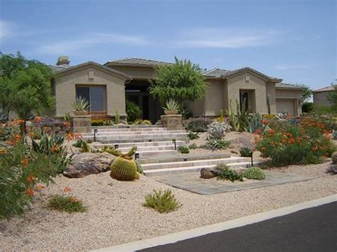Desert Landscaping Ideas For Front Yard Plants For Areas Desert Landscaping How To Build A House