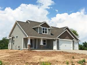 One Story Craftsman Style Homes Craftsman Style 1 1 2 Story New Construction Home