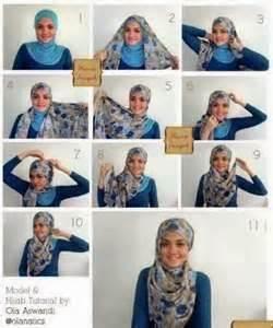 cara berjilbab 2014 contoh model memakai jilbab hijab terbaru 2014