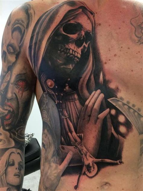 santa muerte tattoos 112 best images about muerte tattoos on sugar