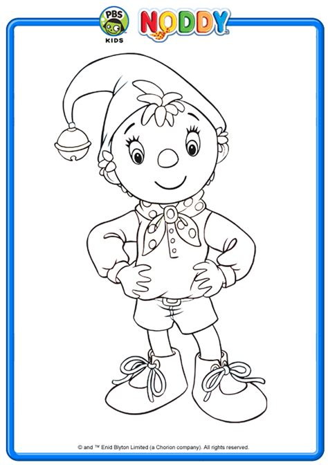 free noddy and friends coloring pages