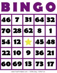 random number cards printable bingo 4