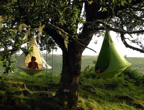 cocoon swing tent hang in out s cacoon hammock lifts you above the trees