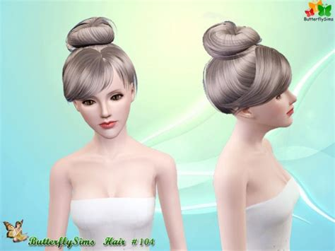 sims 4 hairstyles the sims catalog the sims 3 top knot hairstyle hair 104 by butterfly