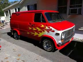 chevy with flames vans chevy