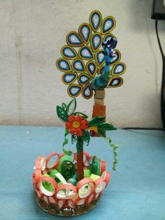 How To Make Showpiece With Paper - decorative light showpiece from paper quilled flowers and
