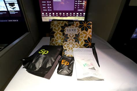 Travel Kit For Business Class Luxe Abu Dhabi Airlines etihad airways business class a380 sydney to abu dhabi