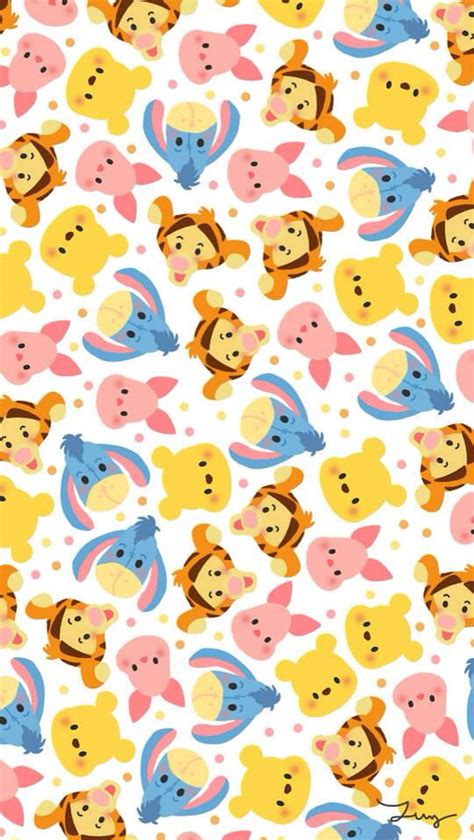 wallpaper tiger disney winnie the pooh cute sweet yellow red pink