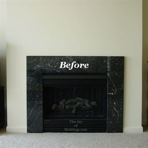 Fireplace With No Mantle by Before Diy Fireplace Mantel The Of Moldings