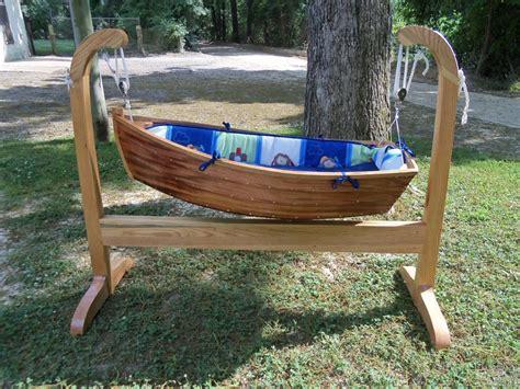 boat cradle wooden boat baby cradle home design garden