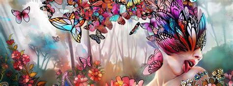 imagenes de mariposas juntas portadas abstractas en hd para facebook de mariposas