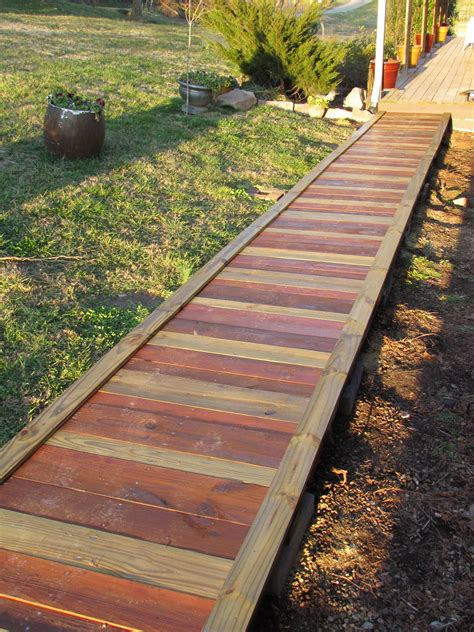 backyard walkway ideas out in the stiks a new sidewalk http outinthestiks