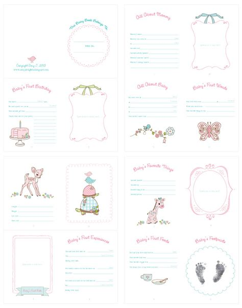 amy j delightful blog baby doll record book printable