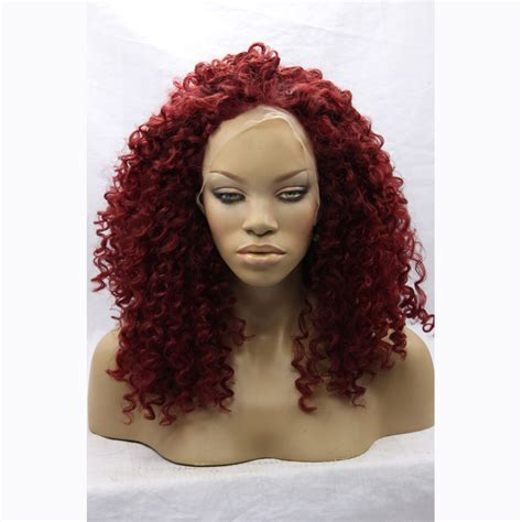 cheap synthetic wigs for women made of high quality heat cheap red curly wig for black women heat resistant natural