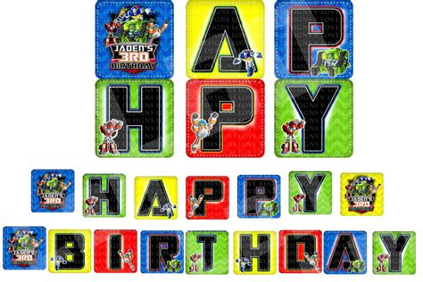 printable transformers birthday banner rescue bots banner rescue bots happy birthday sign rescue