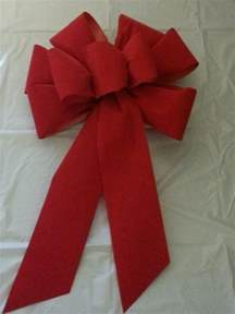 3 large 10 quot hand made christmas bows red velvet indoor