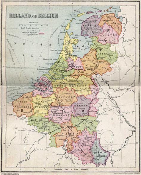 map of netherlands belgium and index of genealogy history maps netherlands