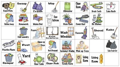 printable chore images wfmw chore chart graphics the o jays kids chore