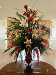 Wedding Vase Rental Hotel Foyer Flower Arrangements Silk Floral In Hotel