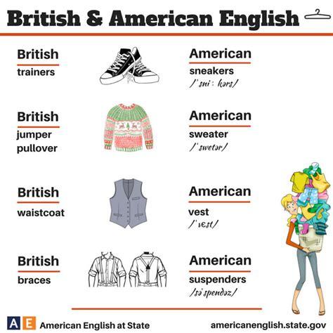 imagenes definition english british vs american english 100 differences illustrated