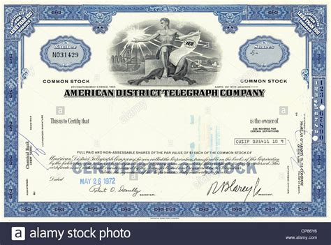 common shares certificate template simple cool outlines