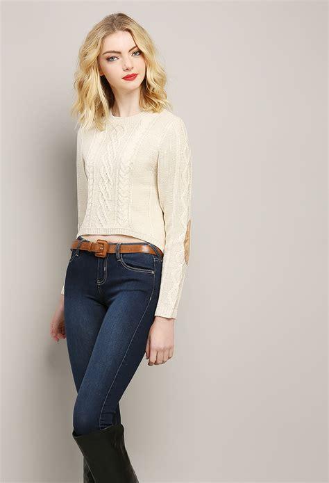 Sweater Top knit sweater crop top shop at papaya clothing