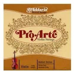 D Addario Pro Arte Violin Strings - d addario pro arte violin string set