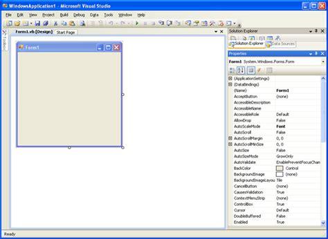 tutorial vb net windows application windows form properties in vb net