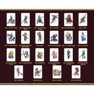 printable zelda amiibo cards 22 pcs zelda nfc amiibo nfc tag game cards nintendo switch