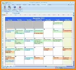 excel calendar template 9 microsoft excel weekly calendar template ledger paper