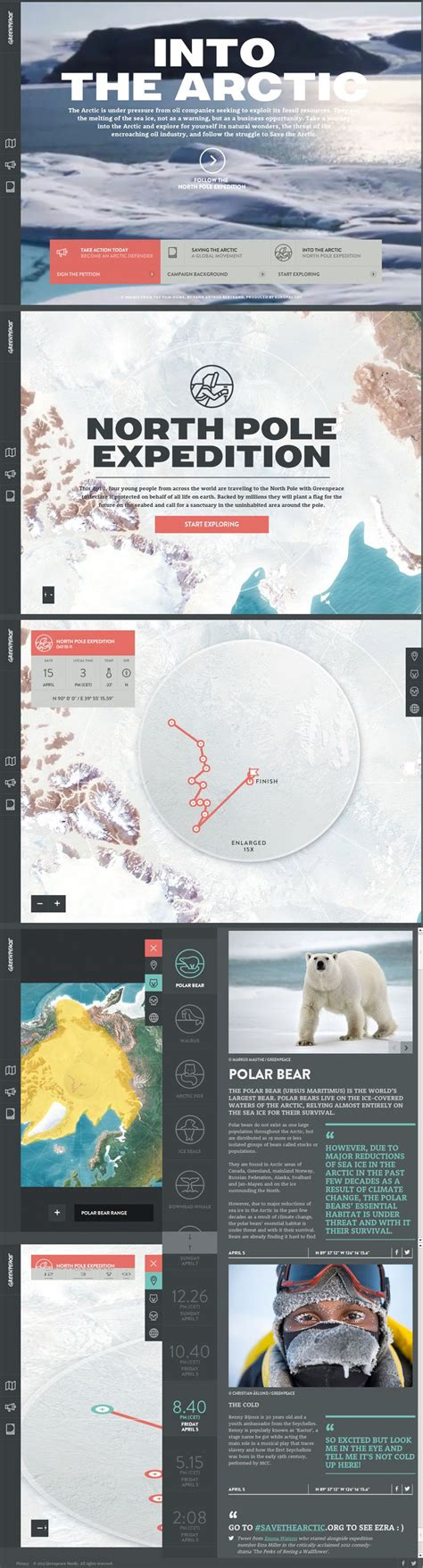 layout design awards into the arctic greenpeace http www awwwards com web