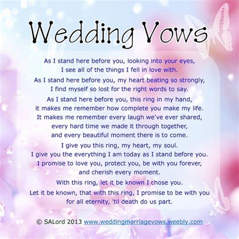 Wedding Vows by Wedding Structurewedding Vows Exle Wedding Structure