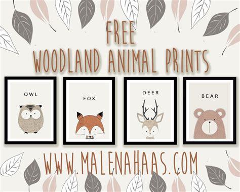 6 best images of free printable animal prints animal malena haas free woodland animal printables