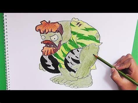 dibujos de gran zombie cavernicola plantas vs zombies para dibujar a gran zombi cavernicola plantas vs zombies