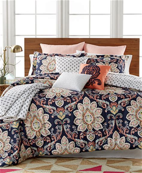 queen sale bed in a bag macys closeout milan 10 pc reversible comforter sets created