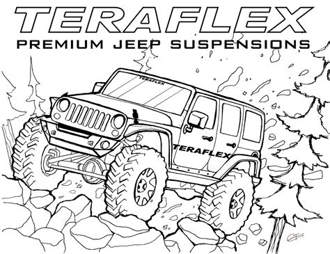 jeep coloring pages to and print for free