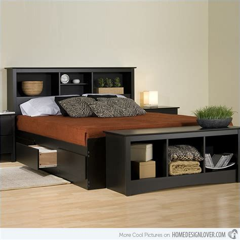 platform bed headboard storage combine beauty and function in 15 storage platform beds