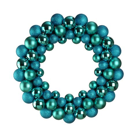 bauble wreath turquoise dzd