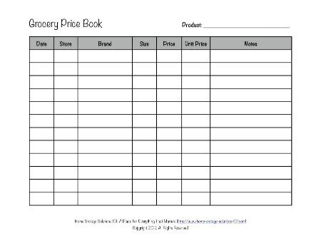 Grocery Price Book Spreadsheet by Grocery List Template With Coupons Www Pixshark