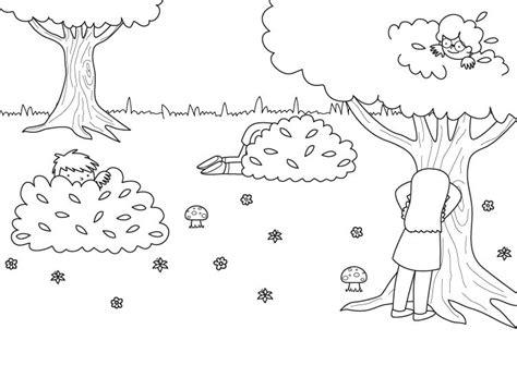 imagenes de niños jugando para colorear e imprimir imprimir juego del escondite dibujo para colorear e imprimir