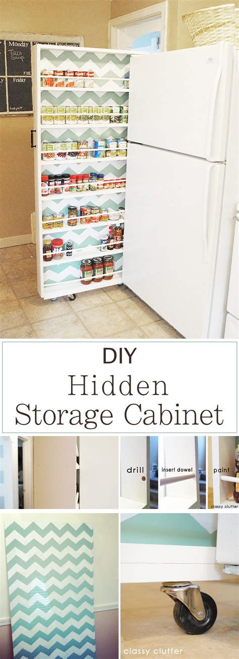 diy hidden storage 15 innovative diy kitchen organization storage ideas