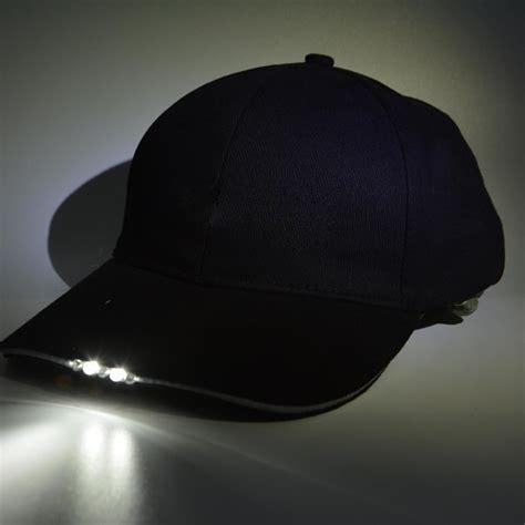 hat with led lights brimlit led hat clip on light 187 gadget flow