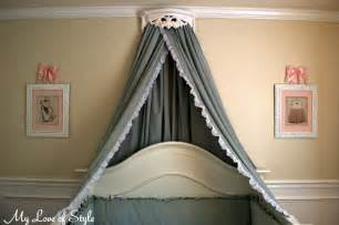 Bed Crown Canopy Set Uk Diy Bed Crown And Crib Canopy Tutorial My Of Style
