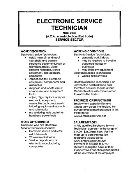 Electronic Resume Example by Electronic Technician Resume Amazing Electronic Technician