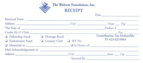 donation receipt book template donation receipt form