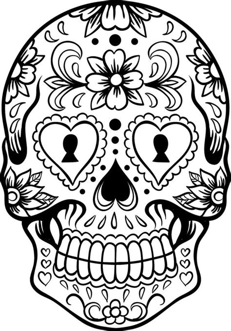 imagenes de calaveras y catrinas para colorear calavera muertos mexicana dibujalia dibujos para