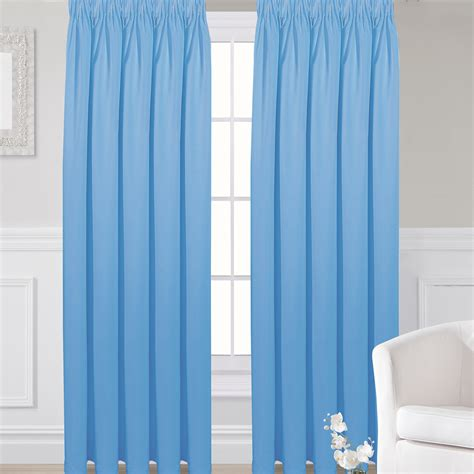 blackout pleated curtains blackout curtains pencil pleat blue pencil pleat